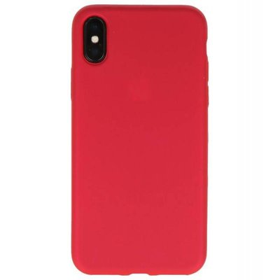 Rood Color back cover TPU Hoesje voor Apple iPhone X
