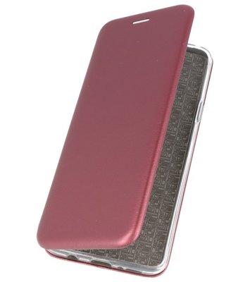 Wijn Rood Premium Folio Hoesje voor Samsung Galaxy S9 Plus