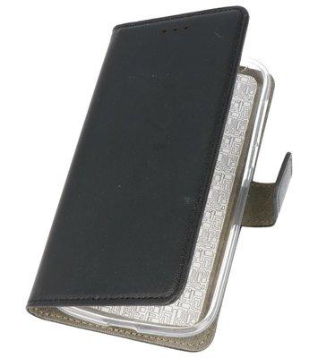 Zwart booktype wallet case Hoesje voor Nokia 1