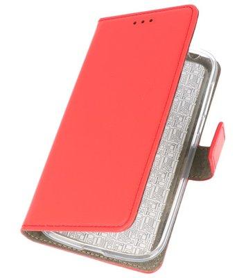 Rood booktype wallet case Hoesje voor Nokia 1