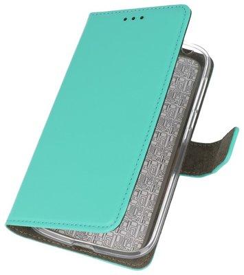 Groen booktype wallet case Hoesje voor Nokia 1