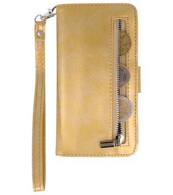 Goud Luxe Portemonnee Hoesje voor Samsung Galaxy S7