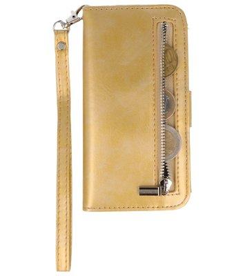 Goud Luxe Portemonnee Hoesje voor Apple iPhone 6s