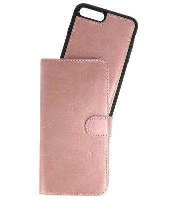 Roze Goud 2 in 1 Wallet Case Hoesje voor Apple iPhone 7 Plus / 8 Plus