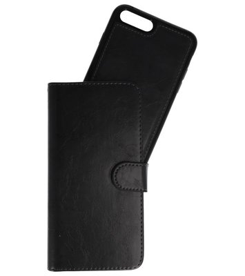 Zwart 2 in 1 Wallet Case Hoesje voor Apple iPhone 7 Plus / 8 Plus