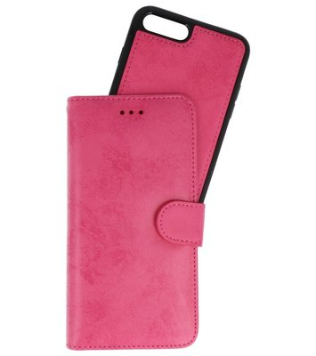 Roze 2 in 1 Wallet Case Hoesje voor Apple iPhone 7 Plus / 8 Plus