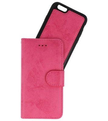 Roze 2 in 1 Wallet Case Hoesje voor Apple iPhone 6s