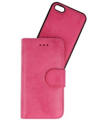 Roze 2 in 1 Wallet Case Hoesje voor Apple iPhone 5s