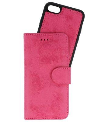 Roze 2 in 1 Wallet Case Hoesje voor Apple iPhone 7 / 8