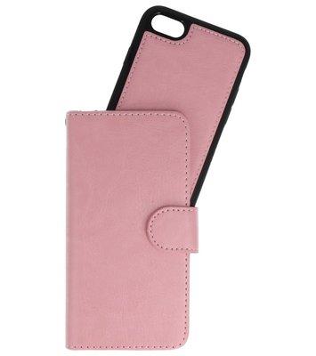 Baby Roze 2 in 1 Wallet Case Hoesje voor Apple iPhone 7 / 8