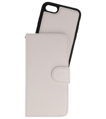 Wit 2 in 1 Wallet Case Hoesje voor Apple iPhone 7 / 8