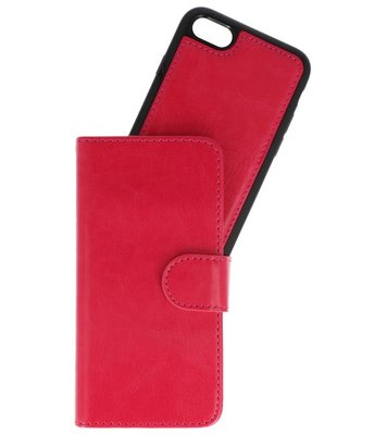 Rood 2 in 1 Wallet Case Hoesje voor Apple iPhone 7 / 8