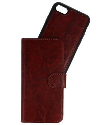 Bruin 2 in 1 Wallet Case Hoesje voor Apple iPhone 7 / 8