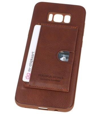 Bruin Hardcase cover Hoesje voor Samsung Galaxy S8 Plus