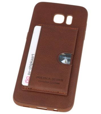Bruin Hardcase cover Hoesje voor Samsung Galaxy S7 Edge