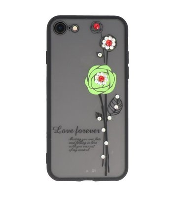 Groen Love Forever back case Hoesje voor Apple iPhone 7 / 8