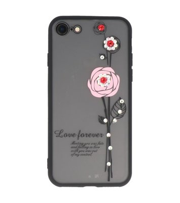 Roze Love Forever back case Hoesje voor Apple iPhone 7 / 8