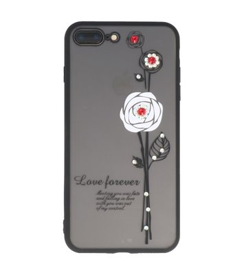 Wit Love Forever back case Hoesje voor Apple iPhone 7 Plus / 8 Plus