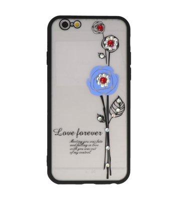 Blauw Love Forever back case Hoesje voor Apple iPhone 6 / 6s