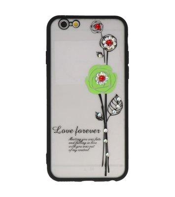 Groen Love Forever back case Hoesje voor Apple iPhone 6 / 6s