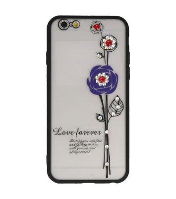 Paars Love Forever back case Hoesje voor Apple iPhone 6 / 6s