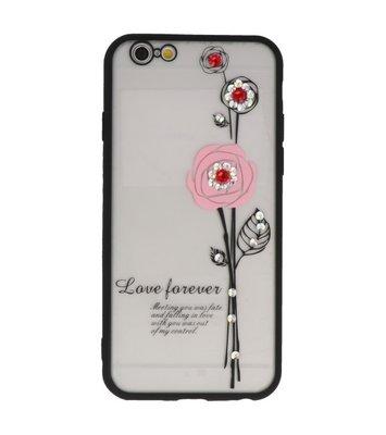 Roze Love Forever back case Hoesje voor Apple iPhone 6 / 6s