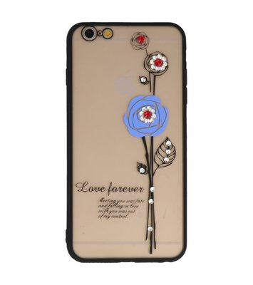 Blauw Love Forever back case Hoesje voor Apple iPhone 6 Plus / 6s Plus