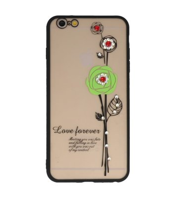 Groen Love Forever back case Hoesje voor Apple iPhone 6 Plus / 6s Plus