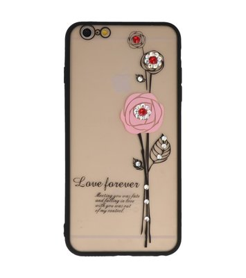 Roze Love Forever back case Hoesje voor Apple iPhone 6 Plus / 6s Plus