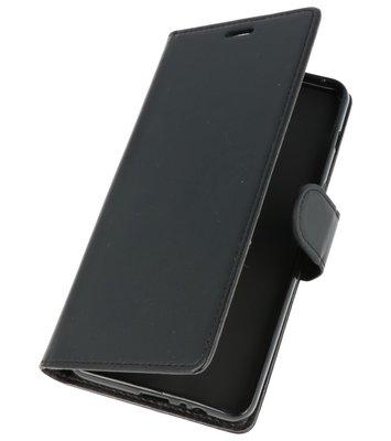 Zwart Wallet Case Hoesje voor Motorola Moto G6 Plus