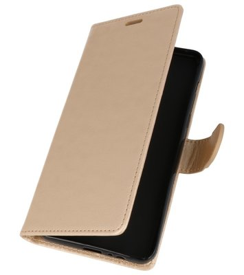 Goud Wallet Case Hoesje voor HTC Desire 12 Plus