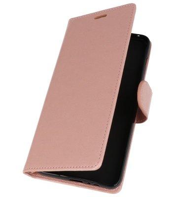 Roze Wallet Case Hoesje voor HTC Desire 12 Plus
