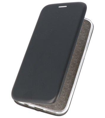 Zwart Premium Folio Hoesje voor Huawei P20 Lite