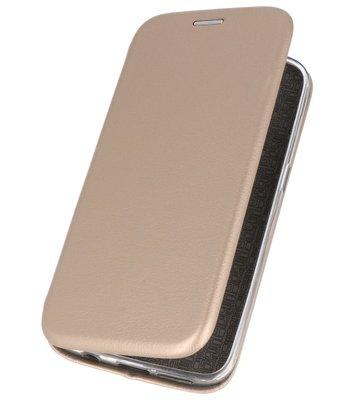 Goud Premium Folio Hoesje voor Huawei P20 Lite
