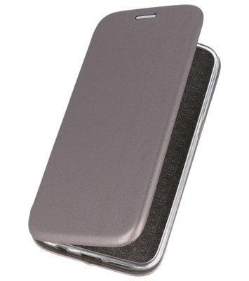 Grijs Premium Folio Hoesje voor Huawei P20 Lite