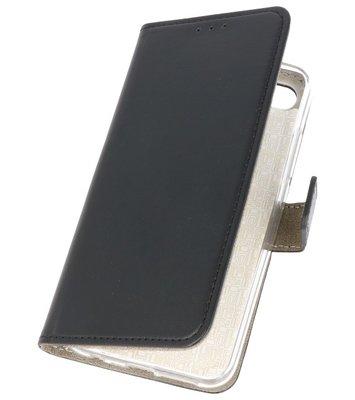 Zwart booktype wallet case Hoesje voor Huawei Honor 10