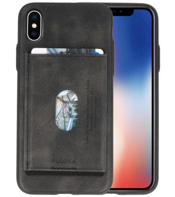 Donker Grijs Hardcase cover Hoesje voor Apple iPhone X