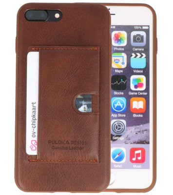 Bruin Hardcase cover Hoesje voor Apple iPhone 7 Plus / 8 Plus