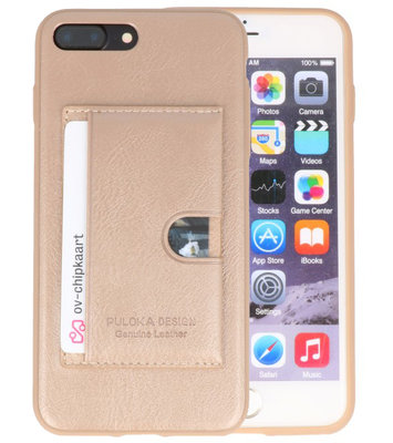 Goud Hardcase cover Hoesje voor Apple iPhone 7 Plus / 8 Plus