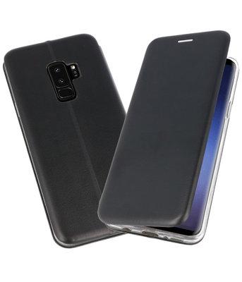 Zwart Premium Folio Wallet Hoesje voor Samsung Galaxy S9