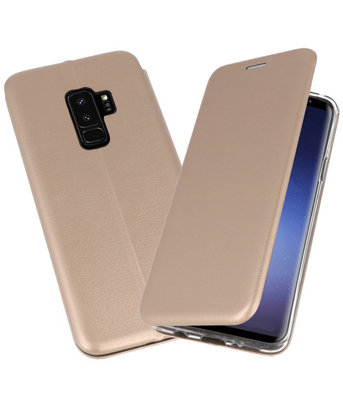 Goud Premium Folio Hoesje voor Samsung Galaxy S9 Plus