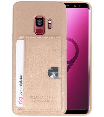 Goud Hardcase cover Hoesje voor Samsung Galaxy S9