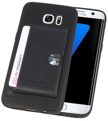 Zwart Hardcase cover Hoesje voor Samsung Galaxy S7 Edge
