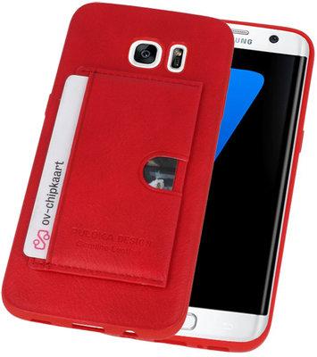 Rood Hardcase cover Hoesje voor Samsung Galaxy S7 Edge