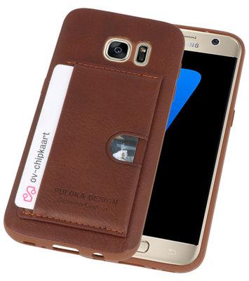 Bruin Hardcase cover Hoesje voor Samsung Galaxy S7