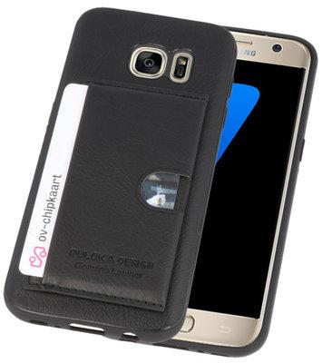 Zwart Hardcase cover Hoesje voor Samsung Galaxy S7