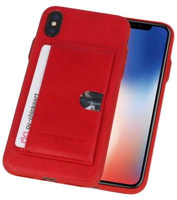 Rood Hardcase cover Hoesje voor Apple iPhone X