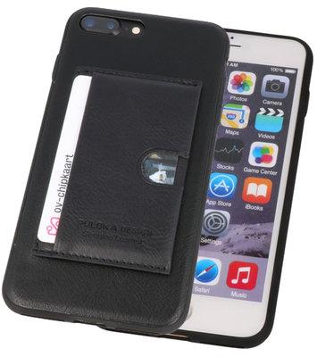 Zwart Hardcase cover Hoesje voor Apple iPhone 7 Plus / 8 Plus