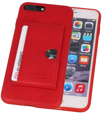 Rood Hardcase cover Hoesje voor Apple iPhone 7 Plus / 8 Plus