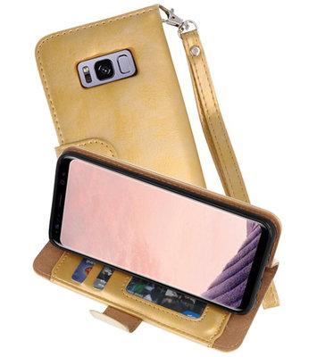 Goud Luxe Portemonnee Hoesje voor Samsung Galaxy S8